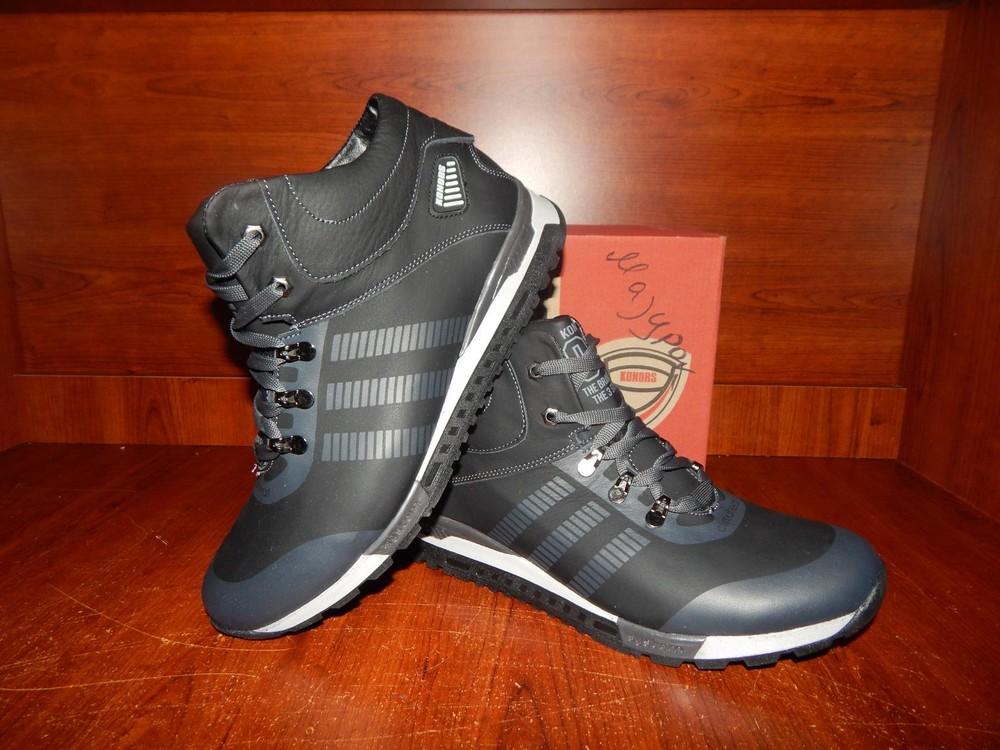 Мужские кожаные зимние ботинки Konors черные, 1000 грн. в ... 11affc82223