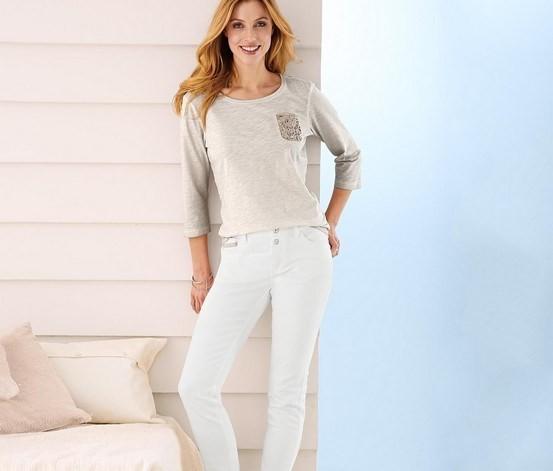 Белые слимы джинсы, tcm, tchibo, евро размер 42 и 46 (наш 48 и 52) фото №1