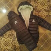 Зимний костюм adidas шоколад р 98-134 качество супер