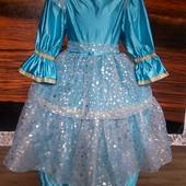Маскарадное платье со звездочками на 6-8 лет