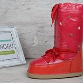 Термо сапожки дутики луноходы Moon Boots Red самая теплая обувь