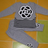 Модный костюм для девочки Цветочек  80-86 92-98 104-110