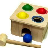 Деревянная игрушка Стучалка Квадрат, Розумний Лис