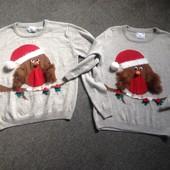 Парные новогодные свитера.Цена за 2. Смотрим замеры и фото в магазине.