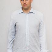 Рубашка с запонками мужская в голубую полоску Pierre Cardin (XL)