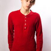 Кофта мужская на пуговицах H&M, красная (S)