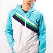 Олимпийка с капюшоном мужская Jack & Jones, бело-голубая (L)