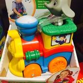 Развивающая игрушка - Паравозик слоника (фигурка слоника, свет, звук)