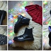 Кожаные ботинки челси на широкую ногу р-р 46