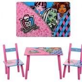 Супер цена столик со стульчиками Монстр Хай