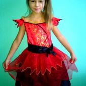 Платье принцесса Огня(Огонек) на 6-8лет(116-128см)!