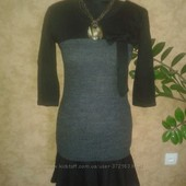 платье женское 44-46рр вязка новое с бантом