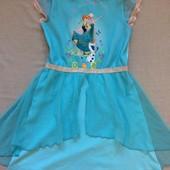 Платье с Анной и Эльзой 5-6 лет