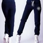 Теплые спортивные штаны, с начесом