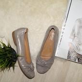 (40р.) Gabor! Германия! Кожа! Красивые балетки, удобные золотые туфли
