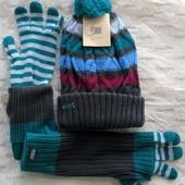 LEVI'S крутой комплект шапка и перчатки/митенки