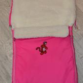Чехол, конверт розовый в коляску, санки
