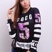 Coco 5 Кофта/ Свитшот/ свитер/ реглан/ принт/ женская одежда/ женская кофта