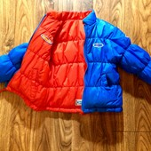 Очень яркая двусторонняя куртка деми Reebok оригинал на 3-4 г.