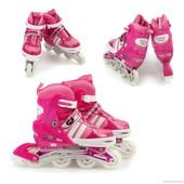 Ролики 9031 L 39-42 розовый