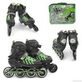 Ролики 9015 L 39-42 зеленый