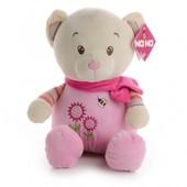 IF54 М'яка іграшка рожевий ведмедик 35 см
