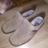 замшевые мокасины туфли Rieker 42 р стелька 27 см