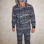 Originals слип флисовый, пижама человечек с капюшоном мужской рL