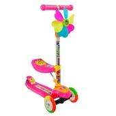 Самокат детский 3-х колесный с сиденьем 925 / 466-59 розовый