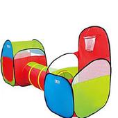 Детская палатка с тоннелем и баскетбольным кольцом