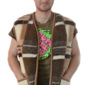 Безрукавка шерстяная мужская очень теплая