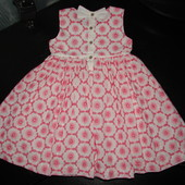 красивое нарядное платье miniclub 4-5 лет 100% х/б как новое