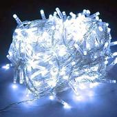 Гирлянда 230 светодиодов силиконовый шнур Белый