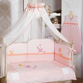 Постельный комплект в кроватку feretti