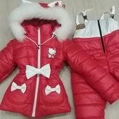 зимовий костюм із вушками котика