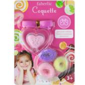 Детский набор «Кокетка»: 3 резинки для волос, блеск для губ в виде подвески на ленте.