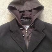 Шерстяное деми пальто на L р-р. Смотрим замеры и фото в магазине.