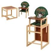 Стульчик для кормления трансформер деревянный МV-010-22-2