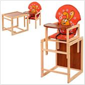 Стульчик для кормления трансформер деревянный МV-010-27-3