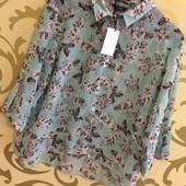 Модная шифоновая блуза л