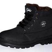 Крепкие зимние ботинки на меху от украинского производителя, есть 41-46 размеры.