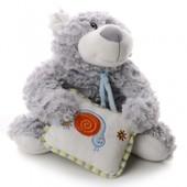 IF70 М'яка іграшка плюшевий ведмедик з подушкою 13 см