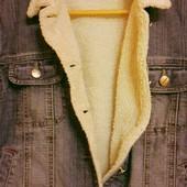 Джинсова куртка утеплена Bodabo M ідеальний стан