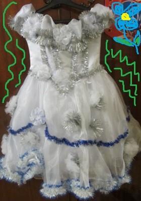 Прокат костюма снежинки, зима 4-6лет фото №1