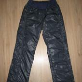 Балоневые тёплые штаны брюки на флисе на девочку 6-8 лет