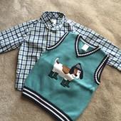 Классные вещички 3Т Джимбори жилетка рубашка Gymboree