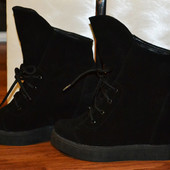 Сникерсы-ботинки из натуральной замши Зима ,деми
