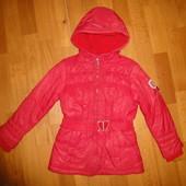 Зимняя курточка Chicco 128 р 8 лет, шапка на девочку на флисе, куртка, чико, чикко, зимова, дівчинку