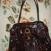 Кожаная лаковая сумка Renzoni куплена в Италии!
