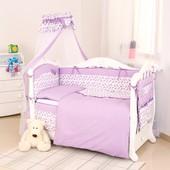Детская постель Twins Premium P-032 Пташки violet